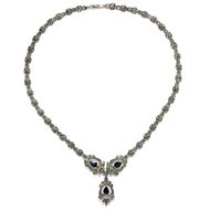 Gioia italiana - Prachtvolles Saphir- & Diamant-Collier in Silber & Gold, Italien um 1960. Photo © 2019 Hofer Antikschmuck Berlin