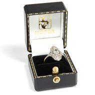 Sail away - Hochfeiner Schiffchen-Ring mit Diamanten in Platin & Gold, um1928. Photo © 2019 Hofer Antikschmuck Berlin