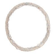 """Vier lange """"Opera""""-Perlenketten mit Schließen aus Weißgold, um 1970"""