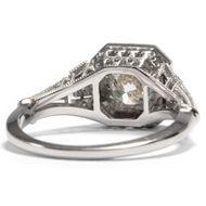 All the pretty things - Erstklassiger 1,41 ct Diamant-Solitär in einem eleganten Weißgoldring, um 1960/2018. Photo © 2019 Hofer Antikschmuck Berlin