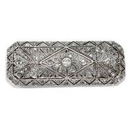 Belle Époque: Prachtvolle Diamant Brosche aus Gold & Silber, um 1905