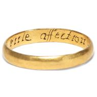 """Let Vertue rule affection"" - Romantischer Posy-Ring aus Großbritannien, um 1750. Photo © 2019 Hofer Antikschmuck Berlin"