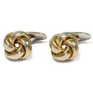 """Antike Knoten: """"Goldfront"""" und 835 Silber, Manschettenknöpfe / Silver Cufflinks"""