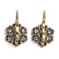 Die Stunde nach Mitternacht - Wunderbare Diamant-Ohrringe aus Gold & Silber, Deutschland um 1890/2019. Photo © 2019 Hofer Antikschmuck Berlin