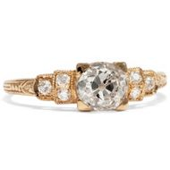 Traumhafter 1,20ct Altschliff Diamant Ring in Roségold Diamant Verlobungsring