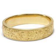 Um 1935: Antiker 585 GOLD ARMREIF mit Freihand Gravuren Armband bracelet bangle