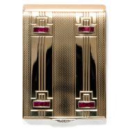 Light my Fire - Luxuriöses Streichholz Etui von Cartier aus Gold, Rubinen & Diamanten, Art Déco um 1938. Photo © 2019 Hofer Antikschmuck Berlin
