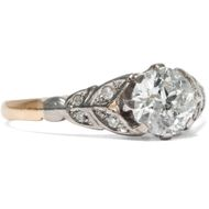 Um 1920: 0,90 ct Diamant Solitär Ring 750 Gold & Platin, Brillant Verlobungsring