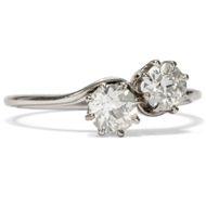 Belle Époque  um 1910 Antiker Diamant Ring mit Diamanten Verlobungsring Platin