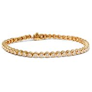 Diamant Armband in 750er Gold, 2,61 ct Diamanten Riviere Tennisarmband Gold