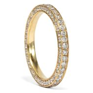 Vintage Memory Ring mit 1,60 ct Brillanten in 750 Gold, um 2000 / Diamanten