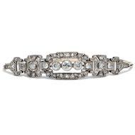 Ich küsse Ihre Hand, Madame - Elegantes Diamant-Armband in Gold & Platin, Art Déco, um 1930. Photo © 2019 Hofer Antikschmuck Berlin