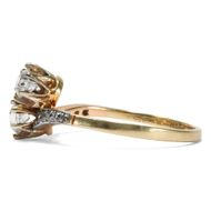 Weißes Glück - Restaurierter Diamant-Ring des Jugendstil in Platin & Gold, um1905. Photo © 2019 Hofer Antikschmuck Berlin