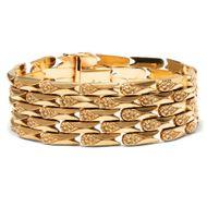 Italien um 1960: Vintage 750 Gold Armband / Gelbgold Goldarmband 18k Bracelet