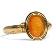 Wunderbares antikes Intaglio der Römischen Kaiserzeit in einem Gold-Ring