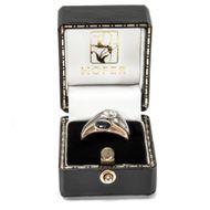 Von allem zwei - Eleganter vintage Ring in Gelb- & Weißgold mit Saphir & Diamant, Italien um 1984. Photo © 2019 Hofer Antikschmuck Berlin