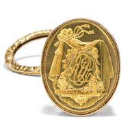 Antike Berlocke / Petschaft aus 750 Gold, Paris um 1830 / Anhänger f. Uhrenkette