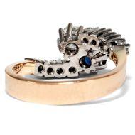 Ein Ring für Romantiker - Unikater Toi-et-Moi-Ring mit lupenreinen Diamanten & Saphir, angefertigt 1973. Photo © 2019 Hofer Antikschmuck Berlin